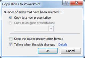Copy slides to PowerPoint